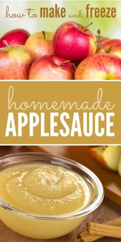 Step by step instructions on how to make and freeze homemade applesauce. Step by step instructions on how to make and freeze homemade applesauce. Freezer Applesauce, Homemade Applesauce, How To Make Applesauce, Baby Applesauce, Apple Sauce Homemade, Best Apples For Applesauce, Homemade Recipe, Baby Food Recipes, Rv Storage