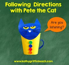 Kathy Griffin's Teaching Strategies: Following Directions Activities with Pete the Cat