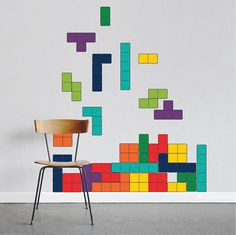 Tetris Decal Tetris Wall Design Gamer Wall Decals by PrimeDecal