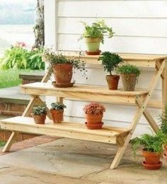 What is a plant stand? Plant stand is an ornamental element that helps you display your interior or outdoor plants on a beautiful platform. Plants stands come in a range of sizes, forms, . Read Best Plant Stand Ideas for Your Own Forest Garden Plant Stand, Diy Plant Stand, Garden Plants, House Plants, Herb Plants, Herb Garden, Wooden Tiered Stand, Wooden Plant Stands, Outdoor Plant Stands
