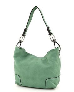 Solid fashion purse Ring trend hobo bag Mint Green