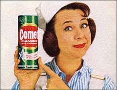 "1960's Ad for Comet Cleanser featuring ""Josephine"""