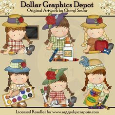 Agnus Goes To School - Clip Art - $1.00 : Dollar Graphics Depot, Quality Graphics ~ Discount Prices