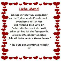 Liebevoller Spruch an alle Mütter