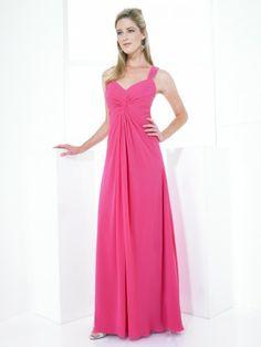 Chiffon Sweetheart Open Back Floor-Length A-line Bridesmaid Dress