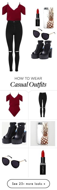 """casual day"" by nuriarico on Polyvore featuring Roland Mouret, Topshop and Smashbox"