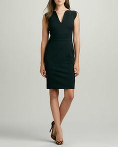 Lolo Cap-Sleeve Classic Dress by French Connection at Neiman Marcus.