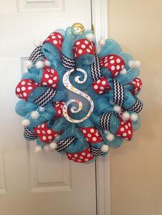 Dr. Seuss wreath