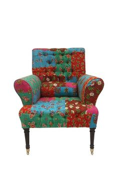 Floral Patchwork Arm Chair