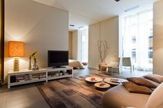 Intimate suite in neutral tones with a private inner courtyard