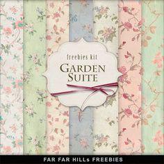 Freebies Vintage Style Paper Kit - Garden Suite