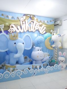 We offer complete decoration, planner and Event Organizer (EO) kids birthday services to celebrate your first birthday baby, bridal shower, kids party, etc. Baby Boy Birthday, First Birthday Parties, First Birthdays, Birthday Backdrop, Birthday Party Decorations, Festa Party, Backdrops For Parties, Deco Table, Baby Party