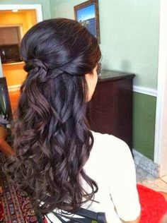 Classic curls for long hair