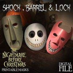 The Nightmare Before Christmas character mask: Lock, Shock & Barrel Digital File by OhWowDesign on Etsy