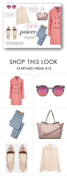 """""""Pink"""" by alexandra-barbu-1 ❤ liked on Polyvore featuring moda, M&S Collection, Quay, D&G, Valentino, ASOS e Chloé"""