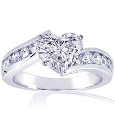 Diamond Heart Engagement Rings For Women 15 Kay Jewelers Engagement Rings, Heart Shaped Engagement Rings, Heart Wedding Rings, Celtic Wedding Rings, Wedding Ring Bands, Diamond Engagement Rings, Heart Rings, Pear Shaped Diamond Ring, Pear Diamond Rings