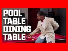 ▶ How To Build A Pool Table Dining Table - YouTube