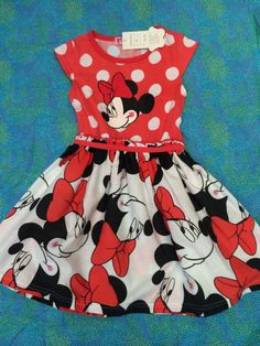 Minnie Mouse vintage dress toddler red polka dotted by AKidsDreamBoutique