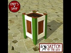 Chief's Shop Sketch of the Day: Decorative Planter - YouTube
