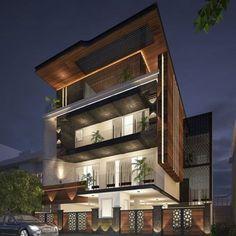 Best Exterior Design in India Modern Exterior House Designs, Bungalow Exterior, Exterior Design, Modern House Design, Modern House Facades, Architecture Building Design, Home Building Design, Facade Design, Architecture Interiors