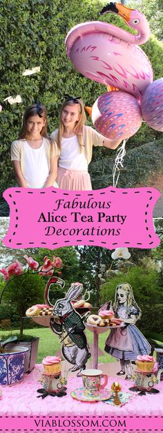 Whimsical Alice in Wonderland Party Ideas and Decorations for a fun Mad Hatter Tea Party!  Get all your Tea Party Supplies in one place!
