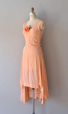 Vintage 70s does 1920's Drop Waist White Chiffon Summer Sun Dress ...