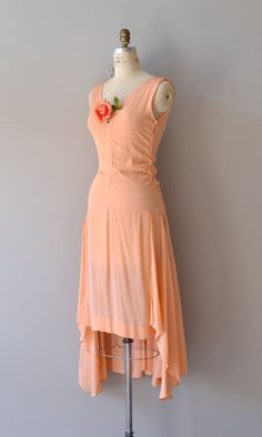 Sugar Girl dress / vintage 20s dress / silk 1920s by DearGolden