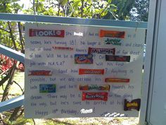 New Birthday Poster Ideas For Kids Candy Bars 35 Ideas Nice Birthday Messages, Birthday Message For Friend, 18th Birthday Cards, Birthday Wishes For Boyfriend, Birthday Candy, Birthday Gifts For Boys, Funny Birthday, Birthday Signs, Happy Birthday