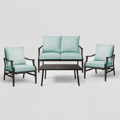 Hampton Bay Monticello 6 Pc Blue Seating Set Replacement