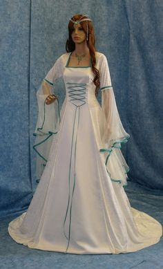 Medieval handfasting dress renaissance custom by camelotcostumes, $280.00