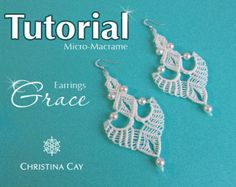 TUTORIAL PDF Micro-Macrame earrings Andalucia by ChristinaCay