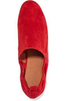 FLATS | Rosetta Getty era suede slippers