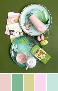 green and pink palette Colour Pallete, Colour Schemes, Color Combos, Color Patterns, Color Palettes, Pink Palette, Design Seeds, Calming Colors, Colour Board