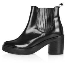 Black box leather chelsea boots from Topshop.