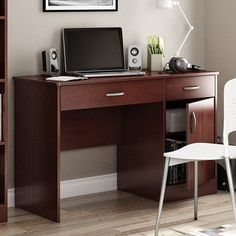 Desk Cherry solid Wood Office Furniture NEW | Traditional, Office