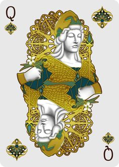 Nouveau BIJOUX Queen of Spades - playing cards art, game, playing cards collection, playing cards project, cards collectors, design, illustration, card game, game, cards, cardist, cardistry, bijoux, jewelry