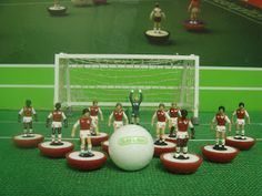 Arsenal Subuteo Of course I had Subuteo hmm it was more my father wanted it so I got one. Arsenal Football, Arsenal Fc, Dennis Bergkamp, Table Football, Arsene Wenger, Best Games, Get One, Kit, Father