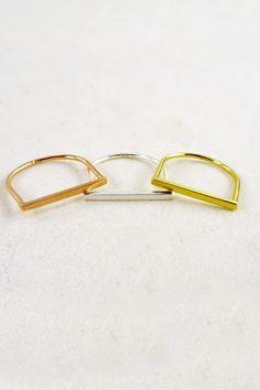 925 sterling silver JANELLE SIMPLE BAR METAL RING