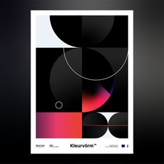 Kleurvorm on Behance Graphic Design Illustration, Illustration Art, Layout Design, Web Design, Passion Project, Color Shapes, All Poster, Posters, New Shop