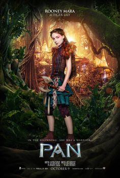 A brave princess warrior ready to defend her family. Rooney Mara stars as the fearless Tiger Lily in the new movie Pan, coming to theaters October 9.
