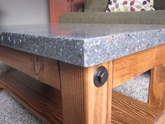 Polished Concrete Coffee Table $275 - Longview http://furnishly.com/polished-concrete-coffee-table.html