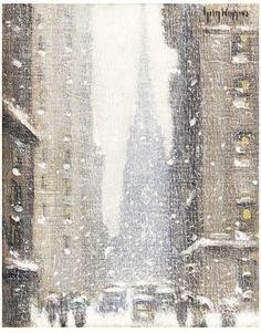 Winter, 1939 by Guy Wiggins - Winter Painting, Winter Art, Snow Scenes, Winter Scenes, Illustrations, Illustration Art, American Impressionism, New York Beauty, Klimt