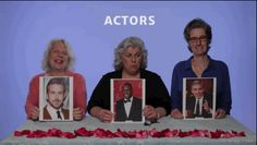 """For their first round, the ladies had to decide between actors Ryan Gosling, Idris Elba, and George Clooney. Very tough! 