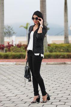 a2cfea14ea look casaqueto de lã salto alto fashion moda estilo style borboletas na  carteira-4 Moda