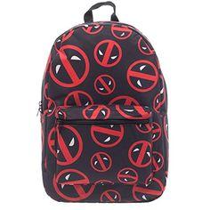 Marvel Deadpool Backpack All Over Logo Print, Icons Deadpool