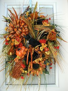 Halloween Fall Decoration Grassy Arrangement Raven by PetalsNPicks, $159.00