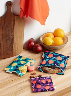 Citrus tango recycled plastic snack bags Set of 3 Beeswax Paper, Snack Bags, All I Ever Wanted, Plastic Waste, Recycle Plastic Bottles, Reusable Bags, Recycled Materials, Tango, Sunglasses Case