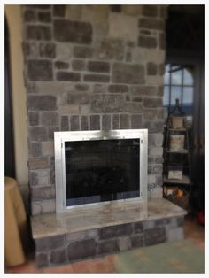 Hearth And Patio, Fireplace Glass Doors, Custom Fireplace, Stainless Steel Doors, Door Sets, Transformation Tuesday, Pent House, Door Design, Southern