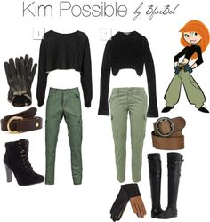 b for bel: Cartoon Closets: Kim Possible and more! by anastasia - Caarton b for bel: Cartoon Closets: Kim Possible and more! by anastasia - Friend Costumes, Best Friend Halloween Costumes, Cute Halloween Costumes, Disney Costumes, Halloween Kostüm, Cartoon Halloween Costumes, Tween Costumes, Halloween Costumes For Teens Girls, Spooky Costumes