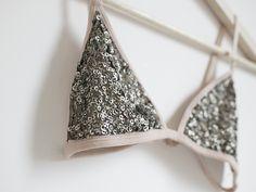 DIY Sequin Triangle Bra
